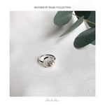 Mother of pearl Ring - Silver