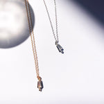 V necklace - White Quartz