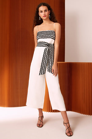 INCISE JUMPSUIT | IVORY