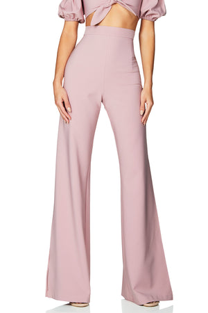 BELLE HIGH WAISTED PANTS | DUSTY PINK