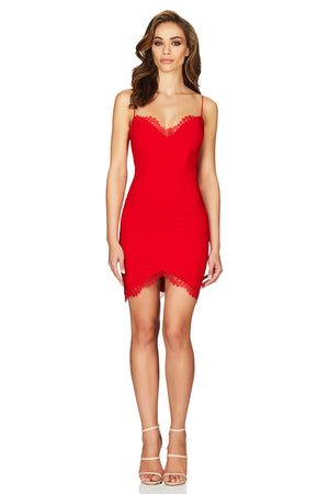 CHLOE LACE MINI | FIERY RED