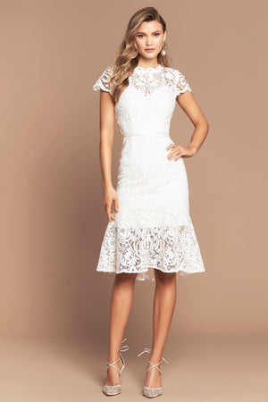 BAROQUE LACE DRESS | IVORY