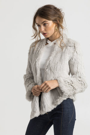 VALENCIA FUR JACKET | LIGHT GREY