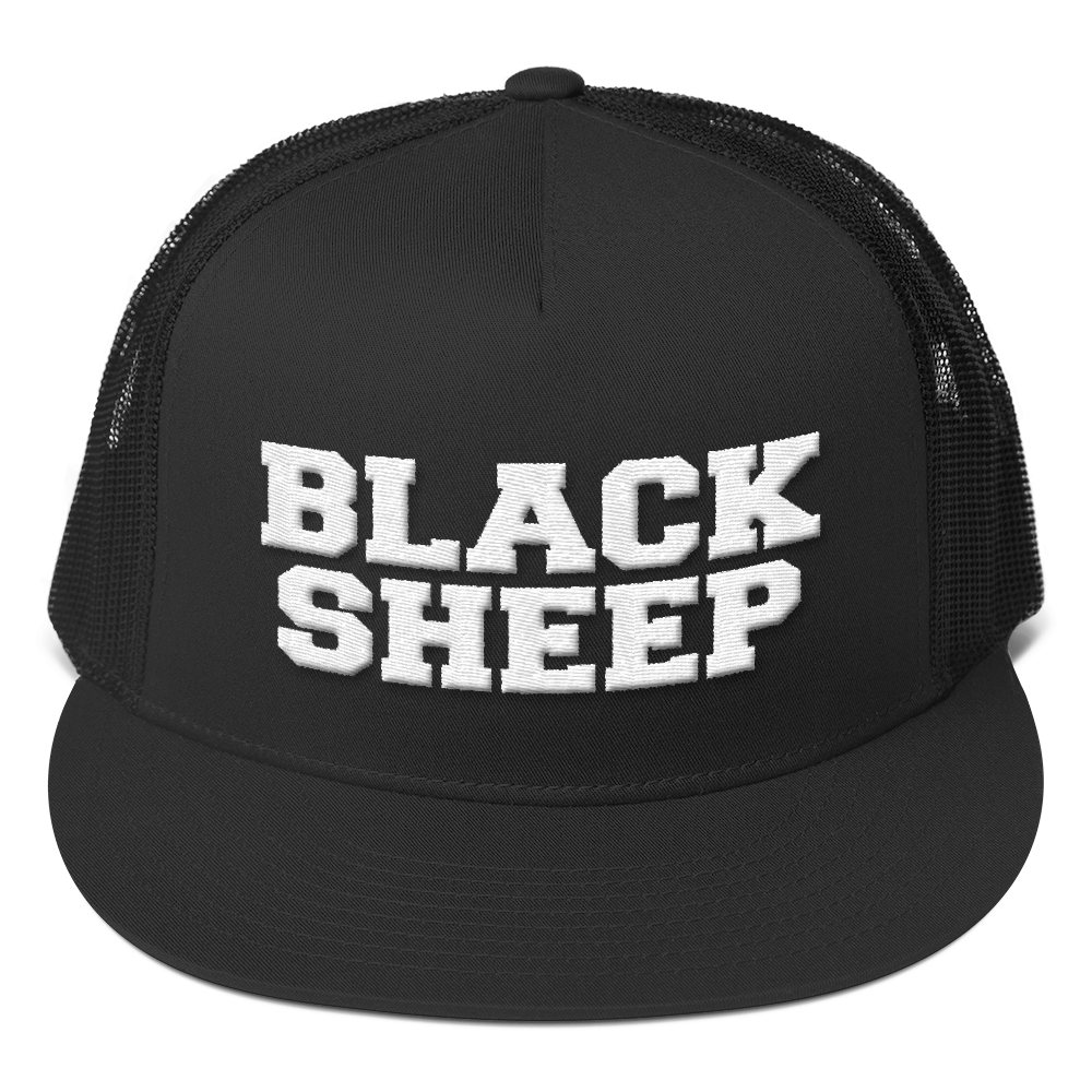 baf8f555e995d Black Sheep Trucker Cap (white text) – Basic London