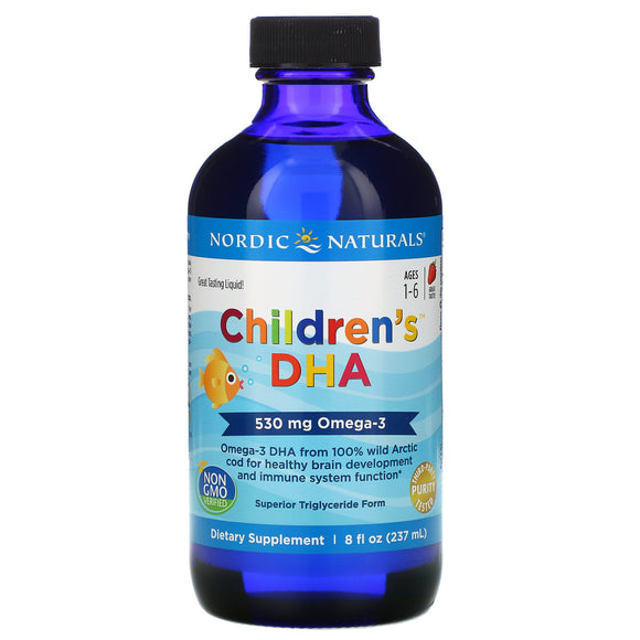 Nordic Naturals, Children's DHA, Ages 1-6, Strawberry, 530 mg 237 ml