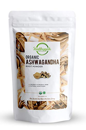 Organic Ashwagandha Root Powder, Adaptogenic Ayurvedic Herbal Superfood for Stress and Anxiety Relief, Raw, Non-GMO & Gluten-Free, Lab Tested for Purity, Sold in an eco-Friendly Bag (8 oz.)