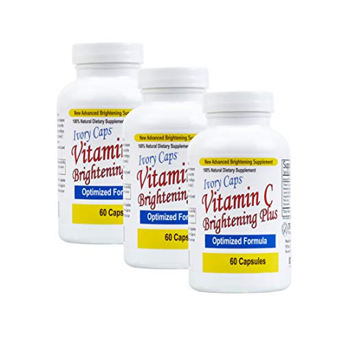 3 Pack - Ivory Caps Maximum Strength Vitamin C Brightening Plus 60 Caps
