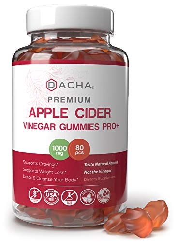 Premium Apple Cider Vinegar Gummies – 80 Count, 1000mg Raw, Organic, Unfiltered ACV from the Mother, Not Sticky, Immune, Detox & Weight Loss Acid Reflux Heartburn, Pomegranate Beet Root Vitamin B9 B12