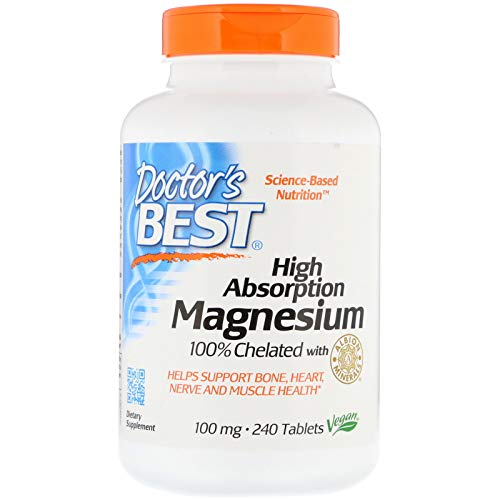 Doctor's Best High Absorption Magnesium 100% Chelated 100mg 240 Table
