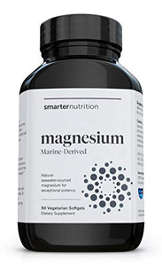 Smarter Magnesium - Salt-Water Sourced Natural Magnesium Supplement - Supporting Energy, Bone Health, Nerve & Muscle Function - from Seawater Aquamin, Avocado Oil, AstraGin (30 Servings)