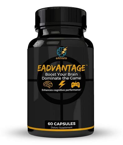 eAdvantage: Nootropic Gaming Supplement for Memory, Focus and Energy (60 Capsules)