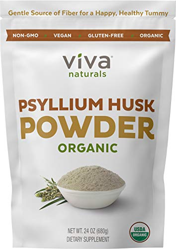 Organic Psyllium Husk Powder (1.5 lbs ) - Easy Mixing Fiber Supplement, Finely Ground & Non-GMO Powder for Promoting Regularity