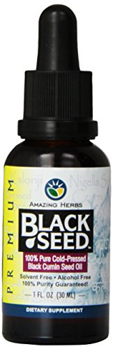 Amazing Herbs, Black Seed, 100% Pure Cold-Pressed Black Cumin Seed Oil, 30mL