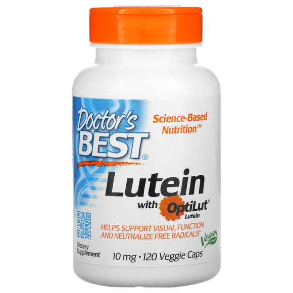 Doctor's Best, Lutein with OptiLut, 10 mg, 120 Veggie Caps