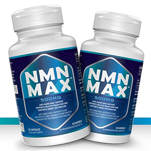 2 Pack NMN Capsules with Maximum Strength- 500mg - High Absorption Nicotinamide Mononucleotide Supplement- Supports Brain Function & Anti Aging