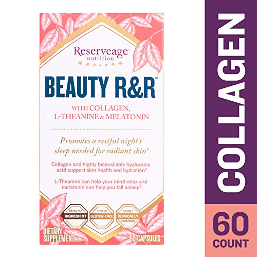 Reserveage Nutrition Beauty R&R 60 Caps Relax Mind Sleep Collagen L Theanine Melatonin