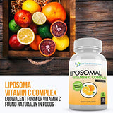 Liposomal Vitamin C 1400mg Per Serving - 180 Veggie Capsules High Absorption Ascorbic Acid, Lypo-Spheric Vitamin C Complex Immune Support Supplement with Powerful Antioxidants and Collagen Booster