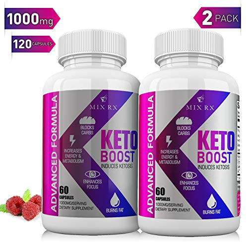 (2 Pack) MIX RX Keto Diet Boost 60 Pills with Exogenous Ketones - Weight Loss w  MCT Oil Powder