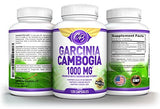 100% Pure Garcinia Cambogia Extract for Weight Loss 1000 mg 120 ct Ultra Premium Natural HCA Exceptional Fat Burner Carb Blocker Appetite Suppressant Metabolism Booster Chromium Calcium Vitamin C 95