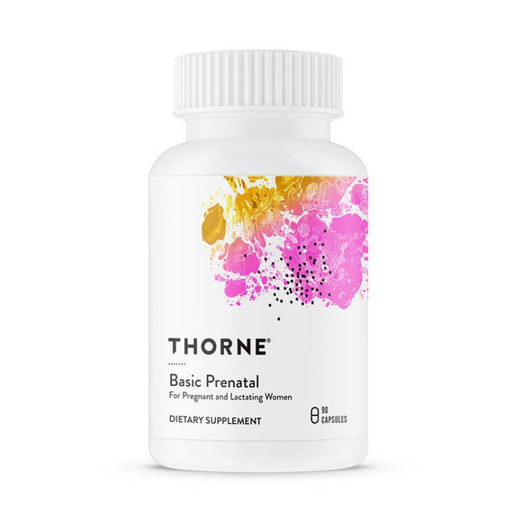 Thorne Research  Basic Prenatal  Folate Multivitamin for Women  90 Capsules