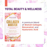 Reserveage Collagen Booster with Hylauronic Acid Resveratrol, Radiant and Healthy Skin, 60 Caps
