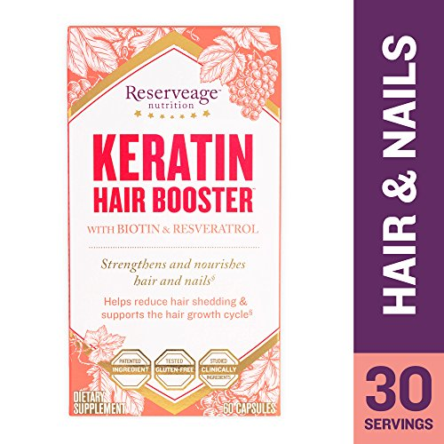 Reserveage - Keratin Booster with Biotin, for Healthy Hair, Nails, and Skin, 60 Capsule