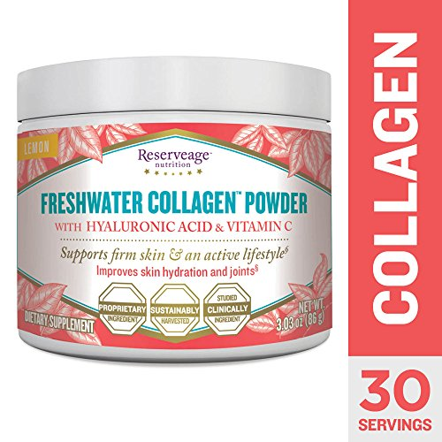 Reserveage  Freshwater Collagen Powder with Hyaluronic Acid and Vitamin C: 86g