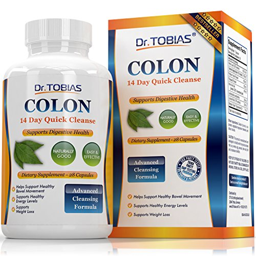 Dr. Tobias Colon 14 Day Quick CleanseSupport Detox  Energy Levels 28 Capsules