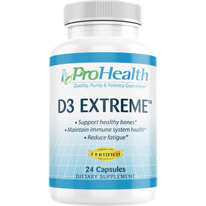 ProHealth Vitamin D3 Extreme (50,000 IU, 24 Capsules) Helps Boost and Support Healthy Bones and The Immune System | Gluten Free | Soy Free