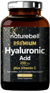 NatureBell Hyaluronic Acid Supplements 250mg Hyaluronic Acid  25mg Vitamin C  200 Caps