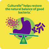 Culturelle Daily Probiotic 60 caps Digestive Health Capsules, Works Naturally with Your Body to Keep Digestive System in Balance*, With the Proven Effective Probiotic, 60 Count