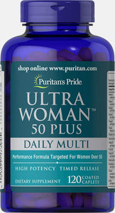 Puritans Pride Ultra Woman 50 Plus Multi-Vitamin, 120 Count