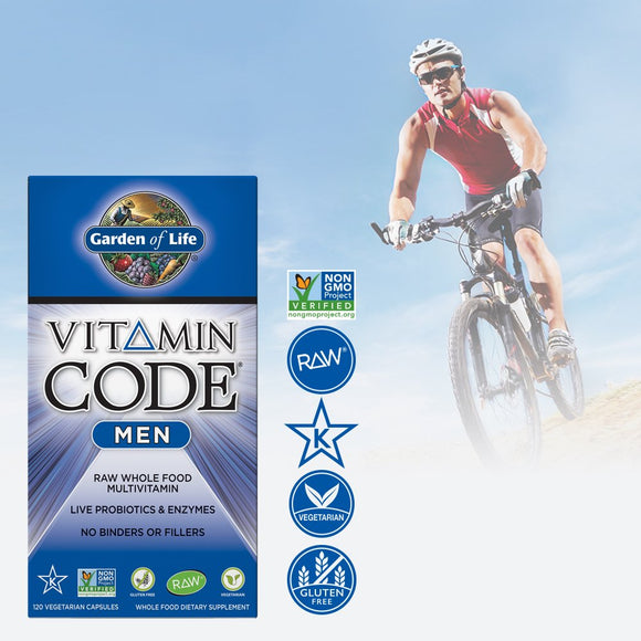 Garden of Life Multivitamin for Men - Vitamin Code with Probiotic 120s