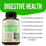 Probiotics 40 Billion CFU Supplement. Helps Improve Digestive, Urinary and Immune Health. Promotes Positive Probiotic Balance and Optimal Nutrient Absorption. Boosts Immune System. Gluten Free