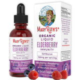 Organic Elderberry Syrup (Extra Strength) Liquid Extract by MaryRuth for Kids & Adults - Immune Boost - High Flavonoid Levels - Vegan Easy Absorption - Blueberry/Raspberry Flavor - Non-GMO - 1oz