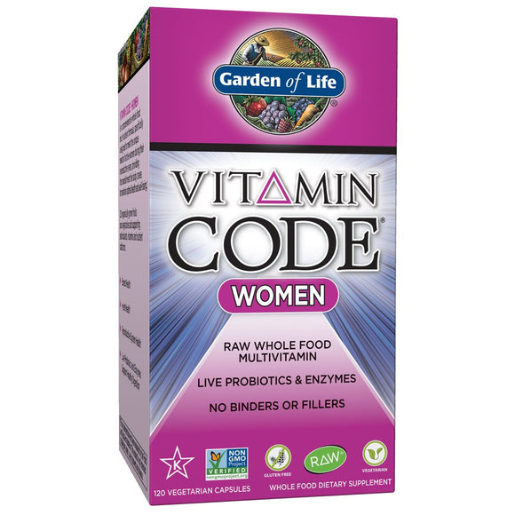 Garden of Life Multivitamin for Women - Vitamin Code Women's Raw Whole Food 120s