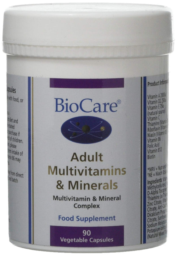 BioCare Adult Multivitamins & Minerals 90 Vegetable Caps