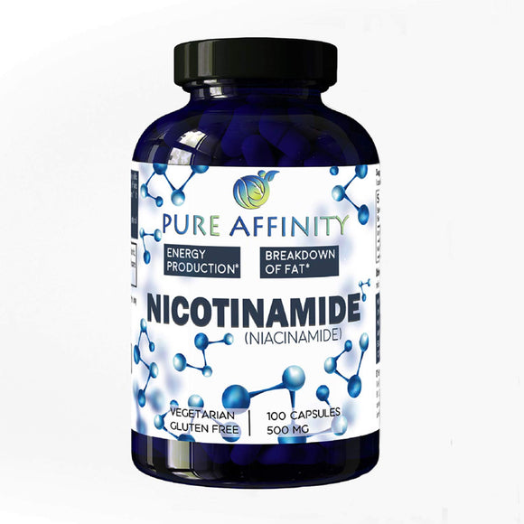 NAD B3 Nicotinamide 500 mg Effective Flush-Free Niacin. Energy Booster, Cell Regenerator, That Supports Cognitive Decline, Anti-Aging and Helps Breaks Down Carbs & Fats (100 Count))