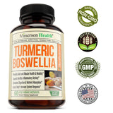 Vimerson Health Turmeric Curcumin with BioPerine, Boswellia and Ginger 60 Veg Caps