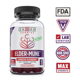 Zhou Nutrition Elder-Mune Sambucus  60 Elderberry Gummies Antioxidant