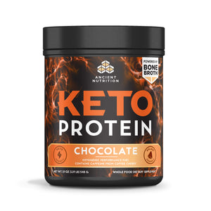 "Ancient Nutrition KetoPROTEIN Powder Chocolate, 17 Servings - Keto Protein Diet Supplement, High Quality Low Carb Proteins and Fats from Bone Broth and MCT Oil"" and a Variation Size of"" 17 Servings"