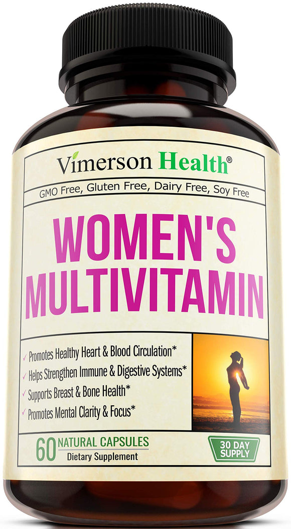 Vimerson Health Women's Daily Multivitamin Multimineral Supplement 60 Caps