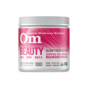 Om Organic Mushroom Nutrition Beauty: Hair, Skin, Nails, 200 grams Original USA
