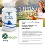 1 Body Thyroid Support Supplement with Iodine 60 Vegan Capsules