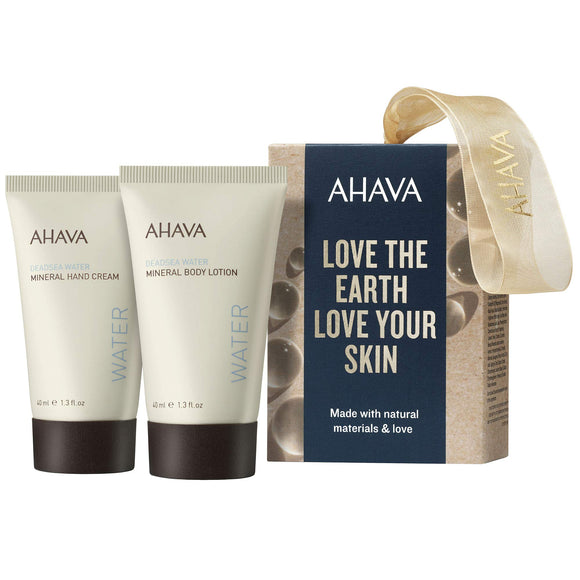 AHAVA Dead Sea Mineral Hand Cream and Mineral Body Lotion Set