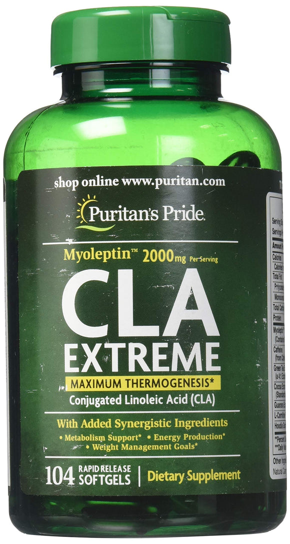 Puritans Pride Myoleptin Cla Extreme Softgels, 104 Count