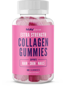 Collagen Hair Vitamins Gummy for Men & Women to Enhance Hair Growth, Skin & Nail Strength, and Anti-Aging Benefits with Vitamin C, Zinc Supplement, Biotin; Non-GMO, Gelatin-Free