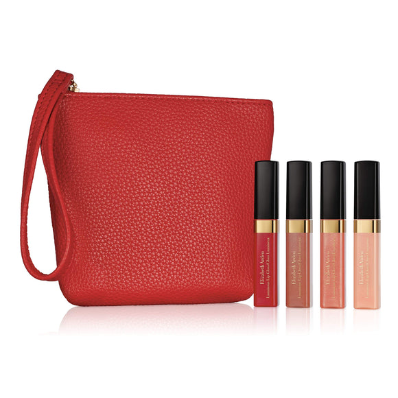 Elizabeth Arden Beautiful Color Mini Luminous Lip Gloss 4 Piece Makeup Gift Set, 4 ct.