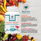 Best Nest Wellness Mama Bird Prenatal Multivitamin Folic Acid, B12, 30s