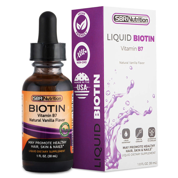 MAX Absorption Biotin Liquid Drops, 5000mcg of Biotin Per Serving, 60 Serving, No Artificial Preservatives, Vegan Friendly, Supports Healthy Hair Growth, Strong Nails and Glowing Skin, Made in USA